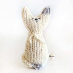 mini cat hand knitted