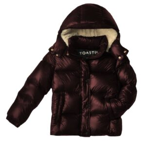 Winter jacket sustainably made fromresponsibly sourceddown from Toastie Kids. Its thermo-regulating