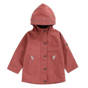 Raincoat sustainably produced from recycled P.E.T plastic bottles from Toastie Kids.Fully waterproof; taped seams