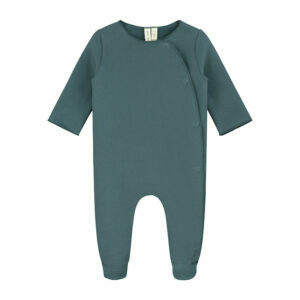 Newborn Suit With Snaps - Blue Grey