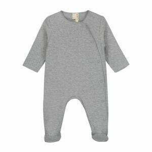 Newborn Suit With Snaps - Grey Melange