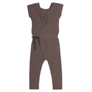 fold-over jumpsuit heather