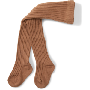 rib stockings almond