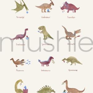 poster dinosaurs Mushie