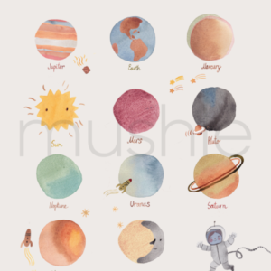 poster planets Mushie