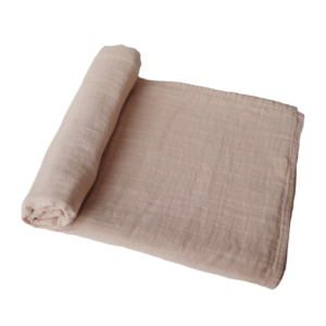 swaddle pale taupe Mushie