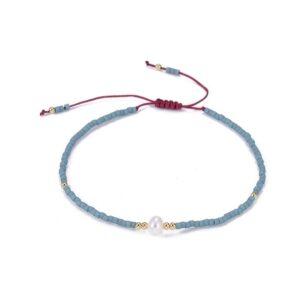 bracelet beaded blue