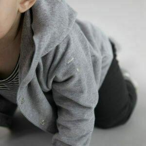 baby cardigan gray label