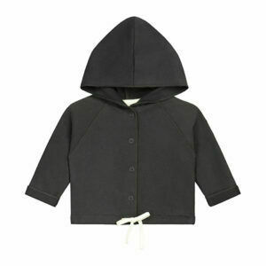 Baby Hooded Cardigan_Nearly Black