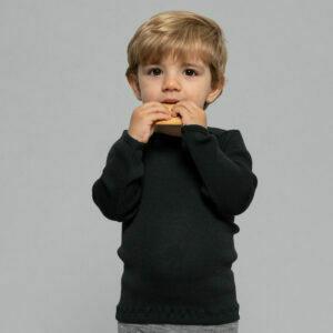 minimalisma merino blouse black